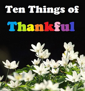 Ten Things of Thankful (TToT)