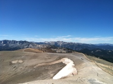 Mammoth volcanic summit