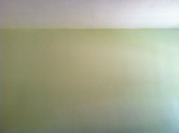 Light Sage Green Family Room Wall