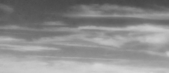 Thought Wisps (Wispy Clouds in Black and White)