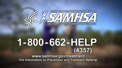 1-800-662-HELP (4357) www.samhsa.gov/treatment for information on Prevention and Treatment Referral