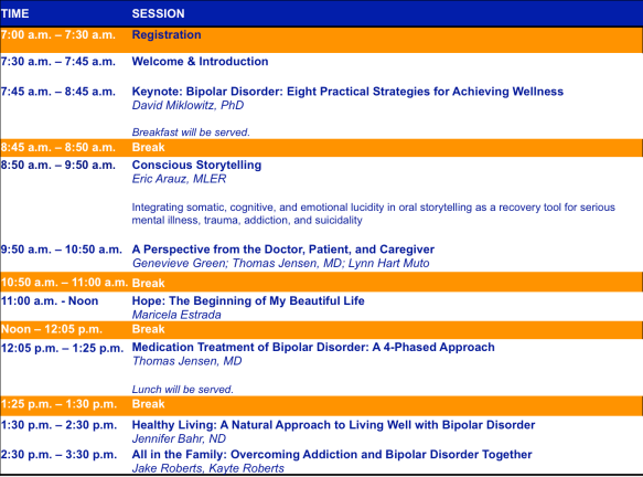 IBPF 1st Annual West Coast Meeting Consumer Track Itinerary