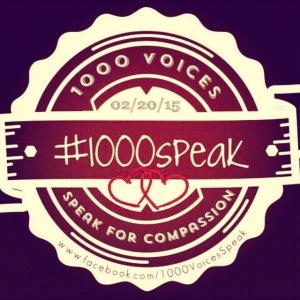 02/20/15 #1000speak 1000 Voices Speak for Compassion