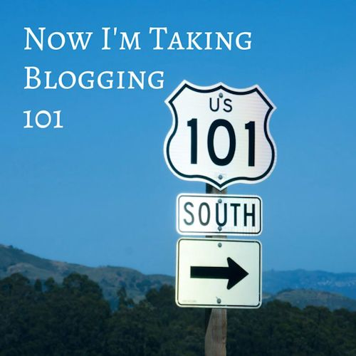 Now I'm Taking Blogging 101 - Sign of US 101 South with arrow