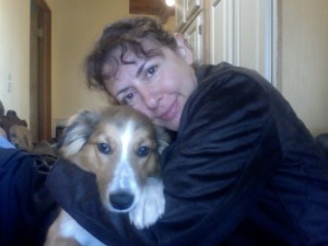 Dyane Harwood & her Muse Lucy