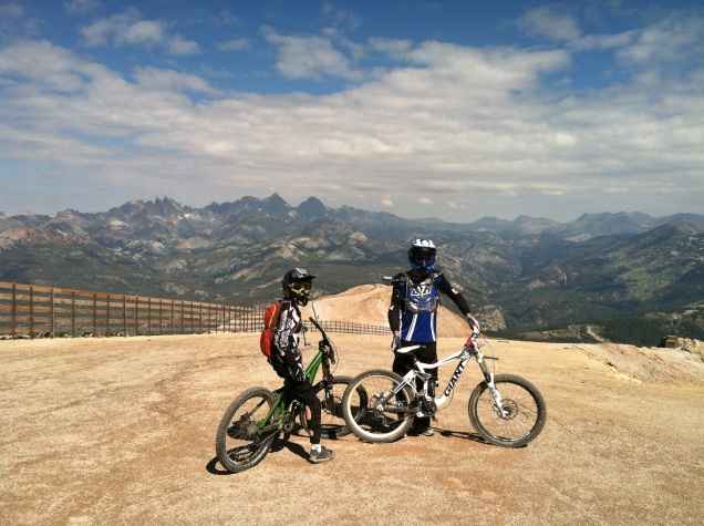 My Son & Husband Atop Mammoth Mountain