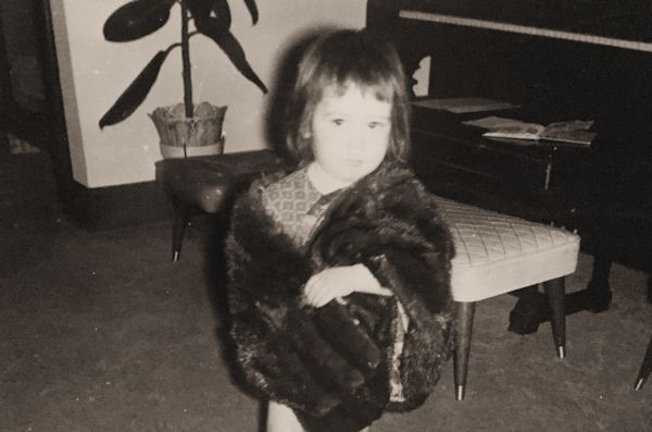 Glamorous Even as a Toddler in My Grandmother O'Malley's Mink Stole