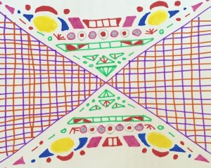 Detailed colorful felt tip doodle