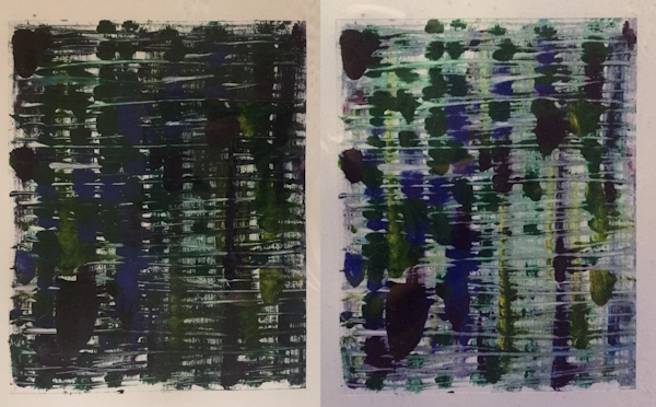 Monoprints 1 and 2 by Kitt O'Malley