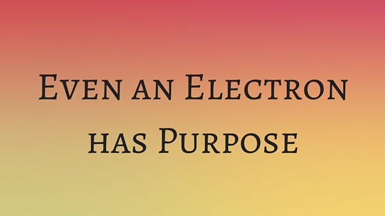 Even an Electron has Purpose
