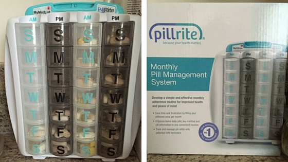 PillRite Monthly Pill Management System