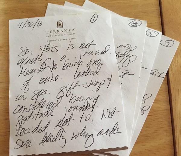 Terranea Notes