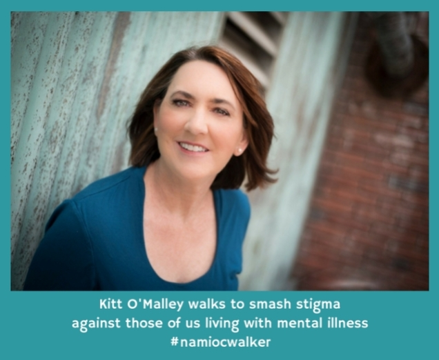 Kitt O'Malley walks to smash stigma against those of us living with mental illness #namiocwalker