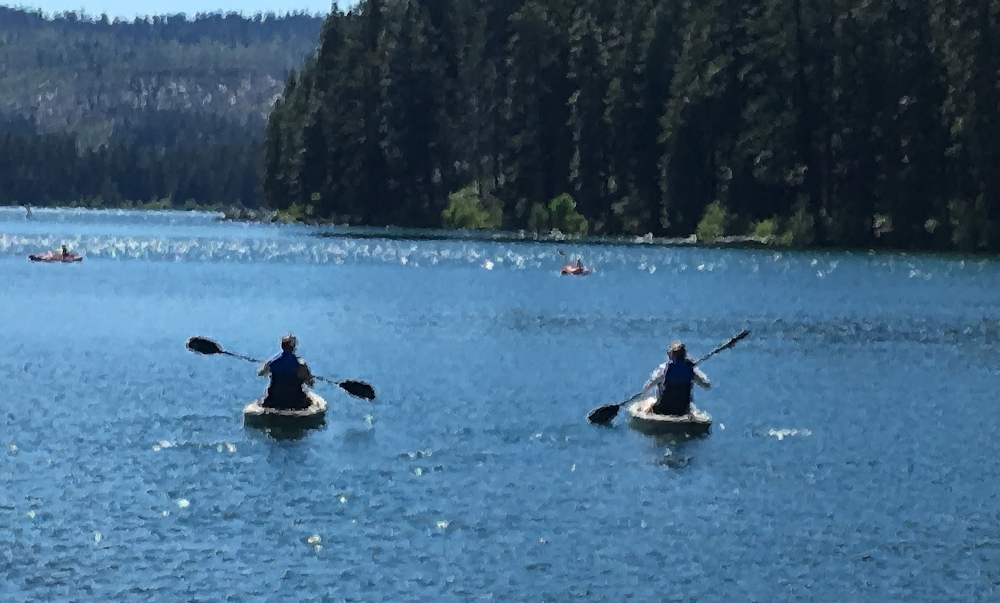 Sisters Kayaking