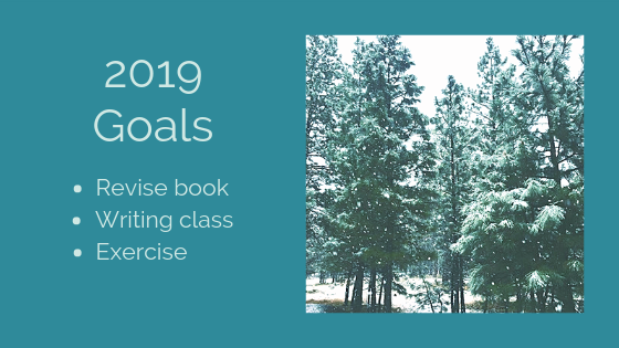 2019 Goals: Revise book, Writing class, Exercise